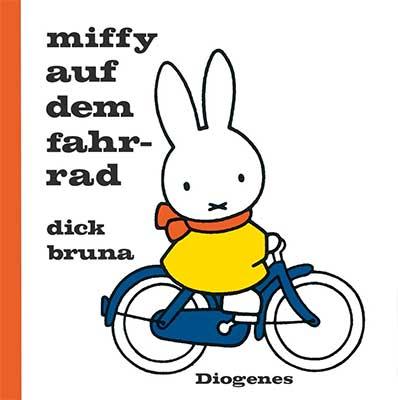 Dick Bruna Miffy auf dem Fahrrad